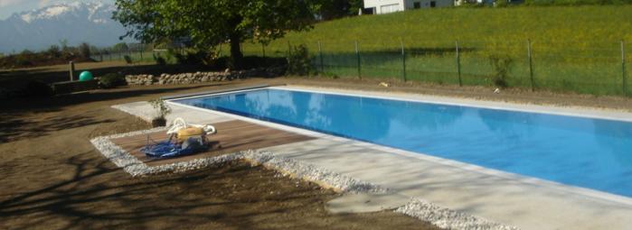 swimming pool einbau